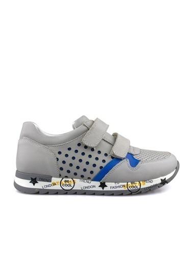 Cicibebe Deri Erkek Çocuk Ayakkabısı Gri